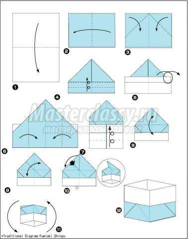 оригами мусорное ведро из