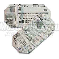 оригами тапочки из газеты своими руками схема мастер-класс с пошаговым фото