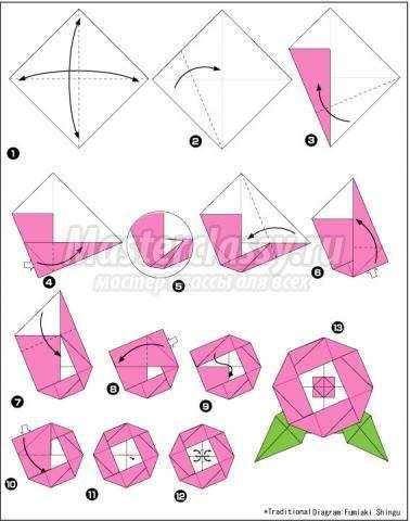 Как сделать из салфетки цветок схема фото 92