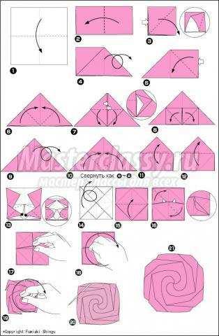 оригами роза своими руками