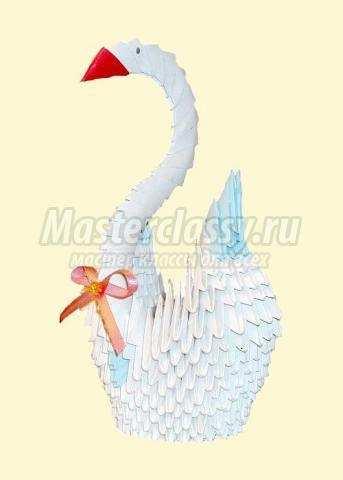 Как сделать лебедя с крыльями. как сделать лебедя с крыльями