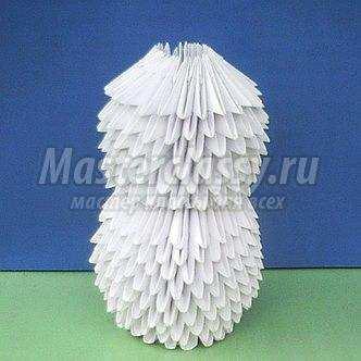 Как сделать модульное оригами снеговик