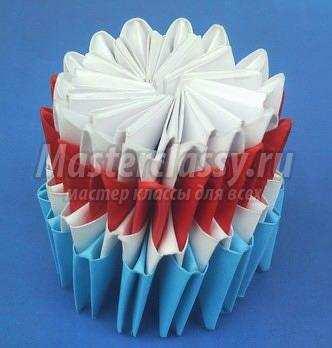 Как сделать модульное оригами снеговик 925