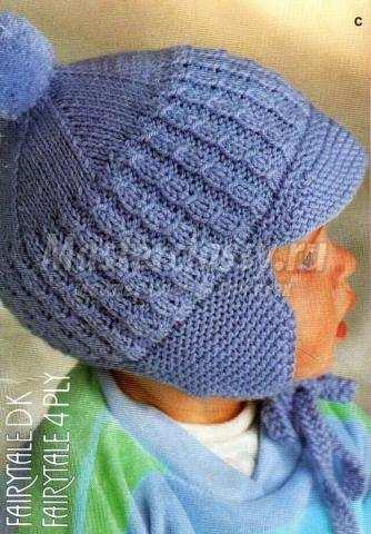 Шлем шапка спицами мастер класс своими руками #6
