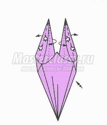 схема оригами вазочка