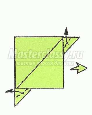 Оригами грач схема для детей 163