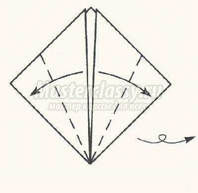 как сделать оригами птица гусь