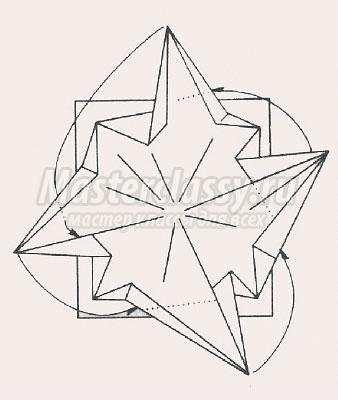 схема оригами цветок гвоздика