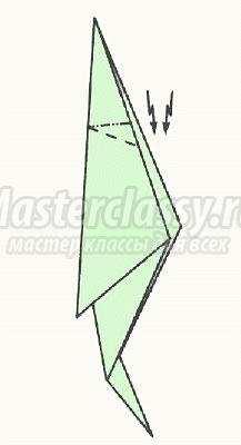 Как сделать попугая из бумаги оригами по схемам