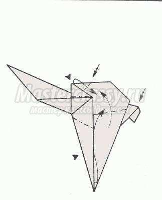 оригами страус схема