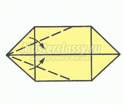 оригами лодка схема