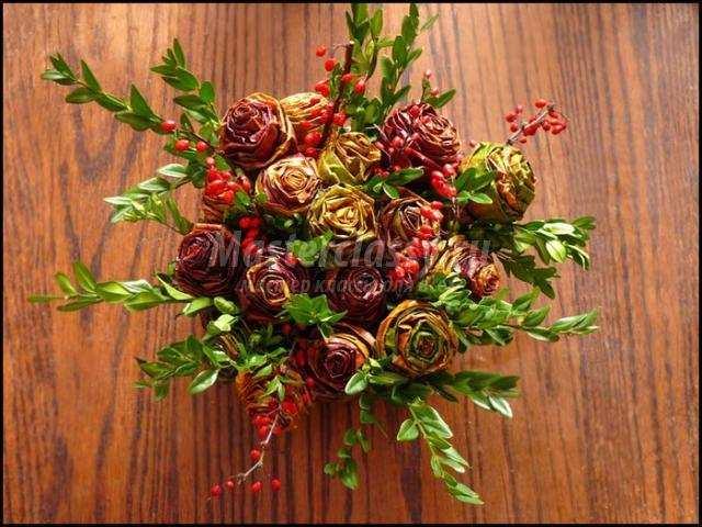 Осенние букеты своими руками из природного материала