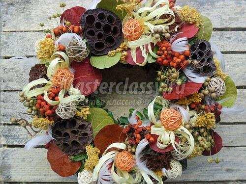 Венки своими руками из цветов