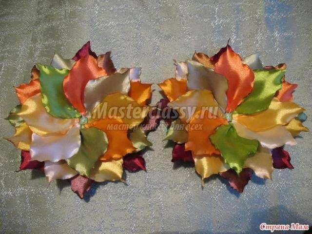 Осенний букет из ткани