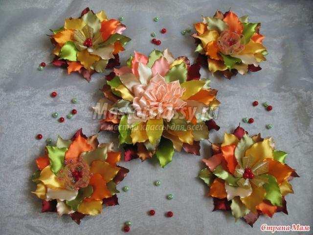 Листья из ткани своими руками фото