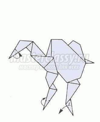 схема оригами верблюд своими