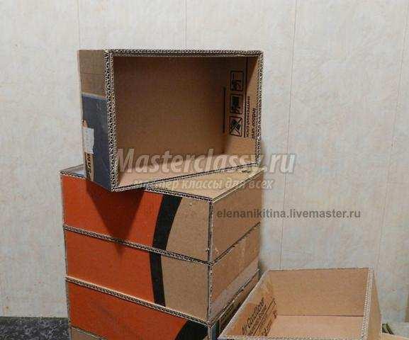 Мебель из картона своими руками мастер класс фото