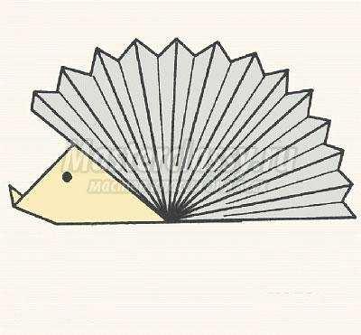 схема оригами ёжик своими