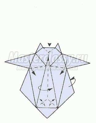 схема оригами кенгуру своими