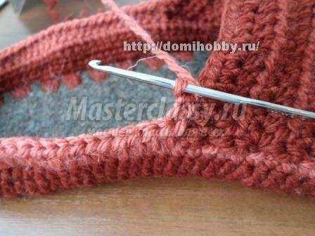 вязание тапочек с войлочной стелькой крючком мастер-класс с фото