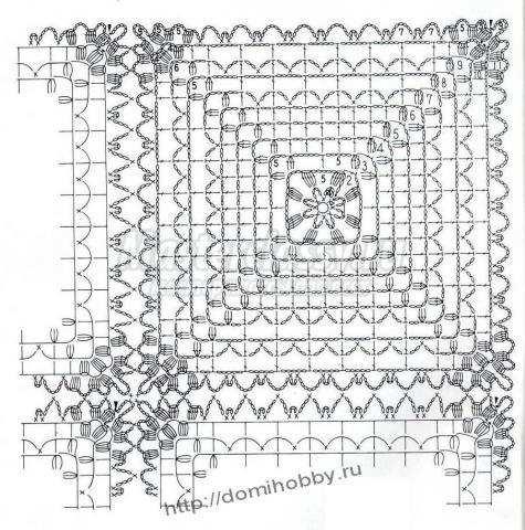 подушка ажурная крючком схема и описание