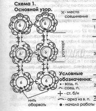 крючком схема и описание