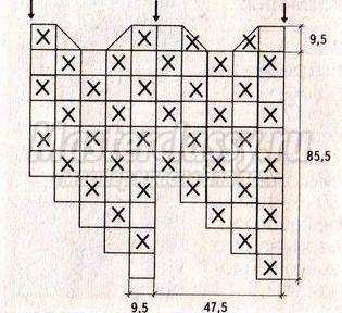 туника из квадратов крючком схемы и описание