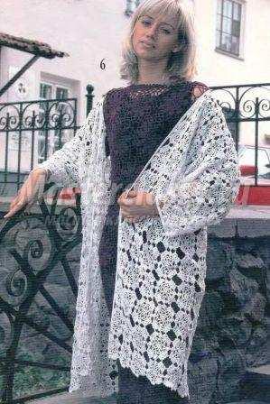 вязаное летнее пальто крючком