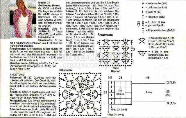Болеро вязанные крючком модели и схемы