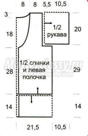 основным узором =1 раппорт