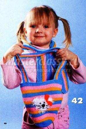 Сумочки крючком детские описание схема 161