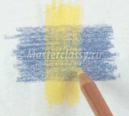 смешивание цветных карандашей в рисовании