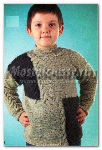 Вязаный пуловер для мужчин спицами описание и схема