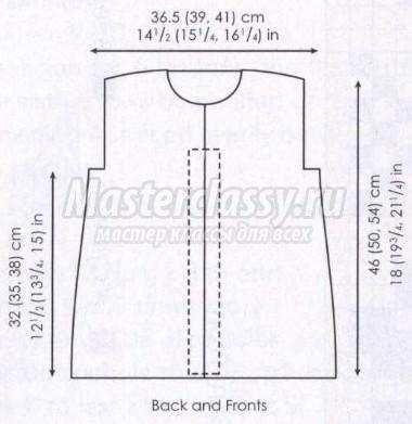 вяжем пальто спицами из меланжевой пряжи для девочки схема и описание