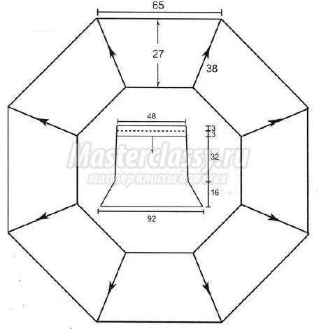 юбка-годе схема и описание