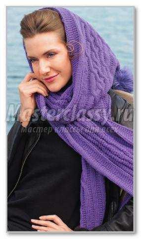 Вяжем шарф схема
