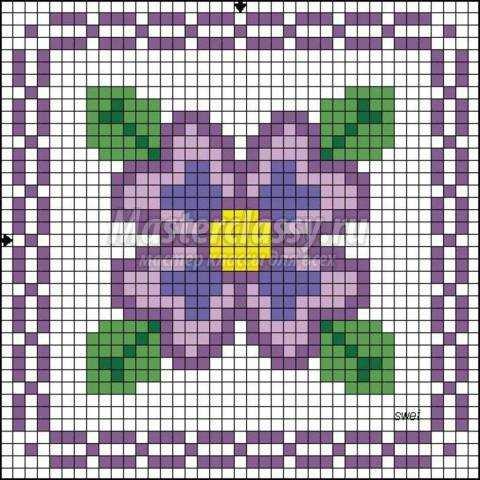 Схемы легких вышивок крестом цветы 559