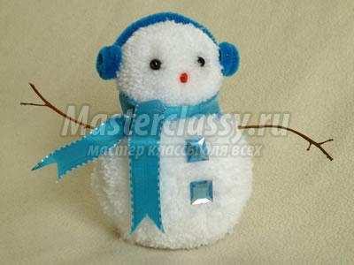 Снеговик своими руками из подручных материалов мастер