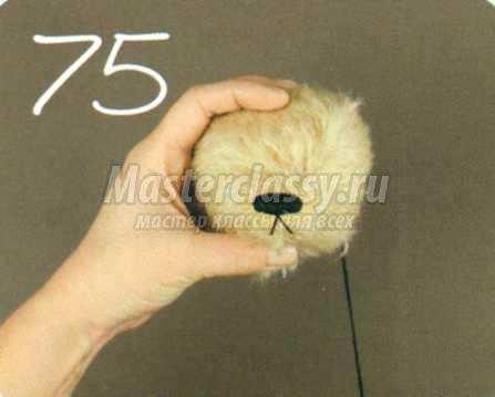 вышивка носа мишки тедди мастер-класс