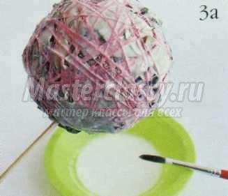 композиции как сделать шар-основу из газет своими руками мастер-класс с фото
