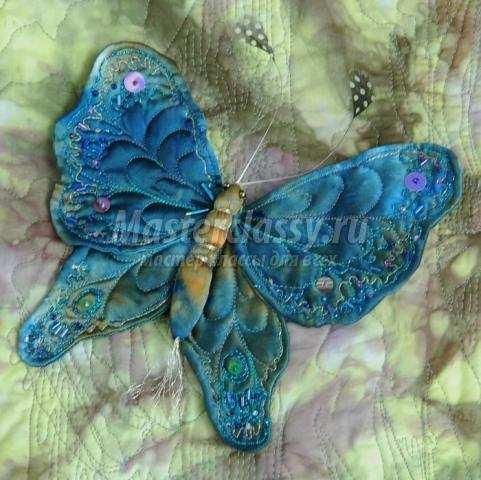 Бабочки своими руками из ткани фото