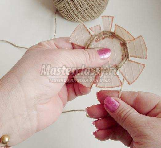 Плетение корзины из шпагата мастер класс