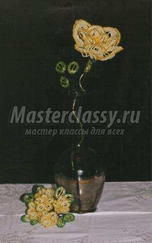 глициния из бисера мастер класс с пошаговым фото