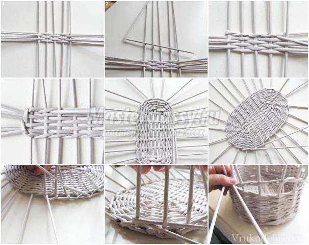 схемы плетения из трубочек