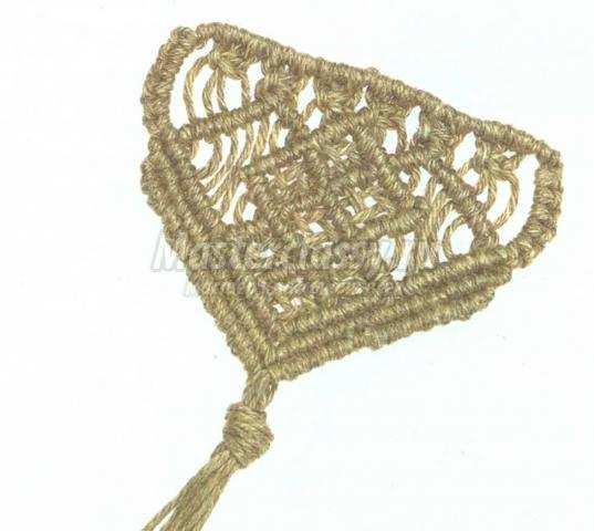 узор витраж при плетении