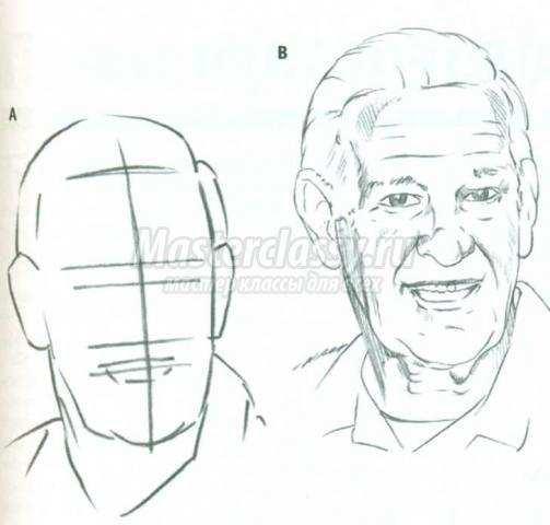 Пожилые люди рисовать 8