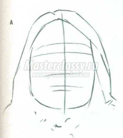 Заштриховать лицо на рисунке