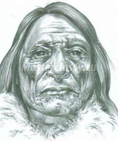 лица пожилых людей при рисовании