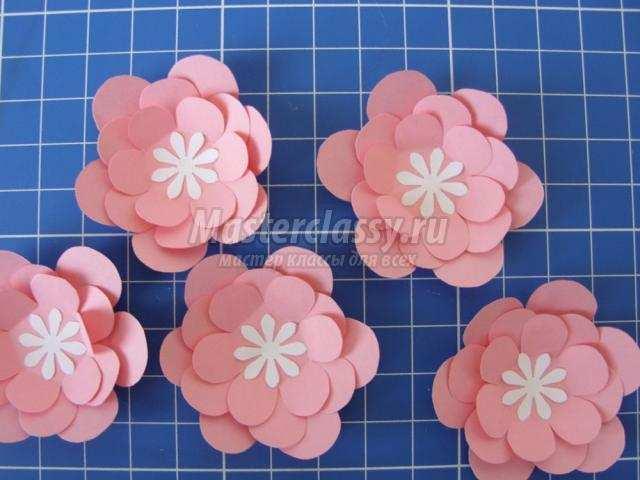 Как сделать из бумаги цветы для открытки