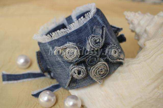 Браслеты из джинсы своими руками мастер класс 33
